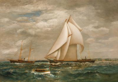 James Gale Tyler Schooner Yacht WATER WITCH in New York Harbor