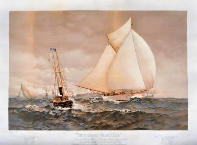 James Gale Tyler Victorious VOLUNTEER Americas Cup Race Off Sandy Hook Sept 30th 1887