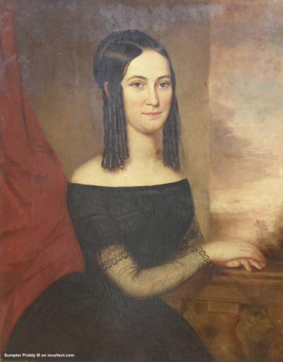 James Hart Portrait of Mary Ball Houston of Memphis Tennessee ca 1855