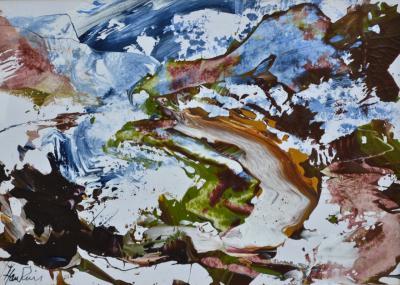 James Hawkins Below Beinn Dearg Winter Scottish Landscape