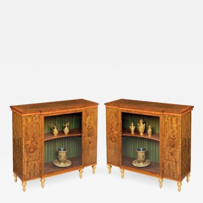 James Hicks Pair of Cabinets in the Adam Neoclassical Manner by James Hicks