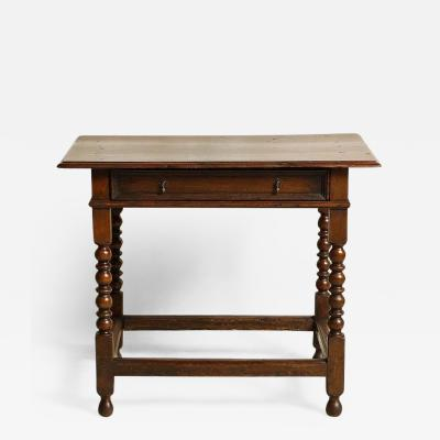 James II Oak Side Table