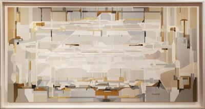 James Kennedy Tangential 2020 A Large Abstract Framed Painting By Artist James Kennedy