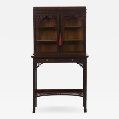 James Lamb A Fine Chinese Chippendale Style Curio Cabinet by James Lamb