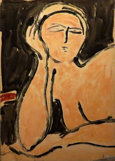 James Lechay Resting Nude