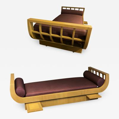 James Mont A Pair of Modern Upholstered Daybeds James Mont
