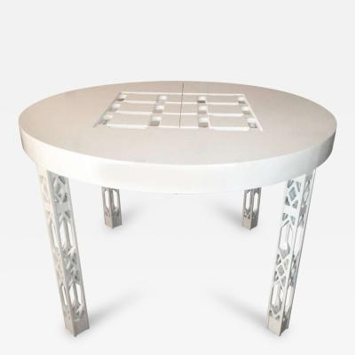 James Mont Attributed James Mont Dining Table White Lacquer