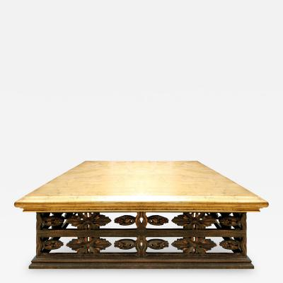 James Mont Gilded Top Coffee Table in the Manner of James Mont 1950s