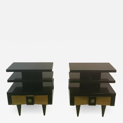 James Mont HIGH STYLE MID CENTURY NIGHT STANDS