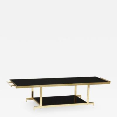 James Mont James Mont Brass Chinoiserie Brass Coffee Table