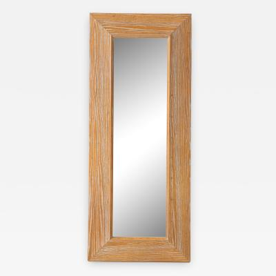 James Mont James Mont Cerused Oak Mirror