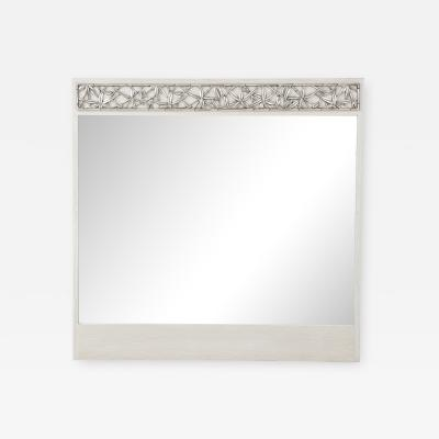James Mont James Mont Cerused oak Silvered Bamboo Mirror 1 of 2