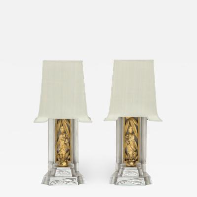 James Mont James Mont Gilded Chinoiserie Lamps