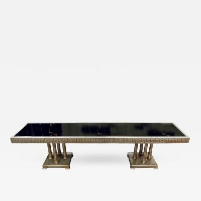 James Mont James Mont Large Coffee Table in White Gold Leaf 1950s