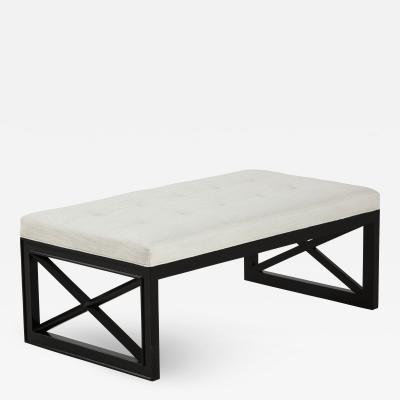 James Mont James Mont Lattice Frame Upholstered Bench