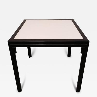James Mont James Mont Leather Top Card Table