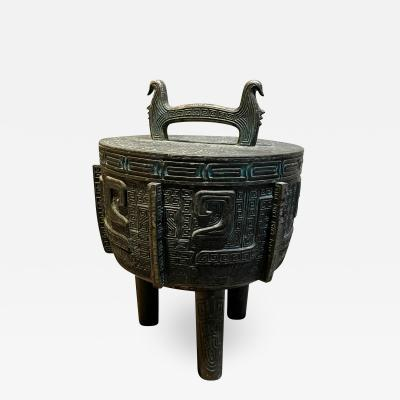 James Mont James Mont Regency Faux Bronze Burmese Ice Bucket Barware made TAIWAN