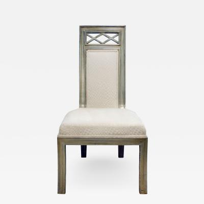 James Mont James Mont Upholsterd Chair in Silver Leaf 1950s