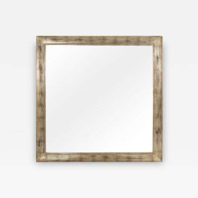 James Mont Large Square Silver Leaf Mirror by James Mont