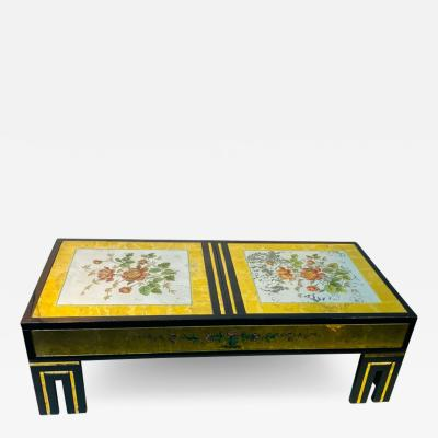 James Mont MODERNIST EGLOMISE COFFEE TABLE BY JAMES MONT