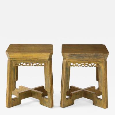 James Mont Pair of Custom Side Tables Nightstands by James Mont