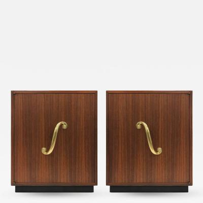 James Mont Pair of James Mont Style Cabinets or Nightstands