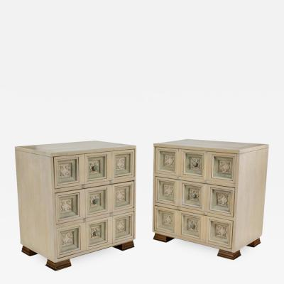 James Mont Pair of James Mont Style Chests