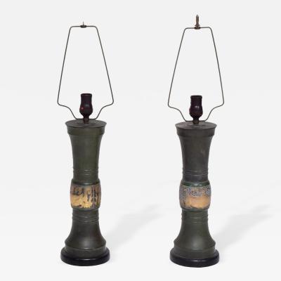 James Mont Pair of Oriental Hollywood Regency Table Lamps