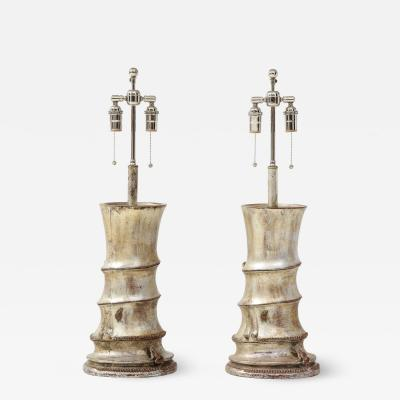 James Mont Pair of Rare James Mont Lamps