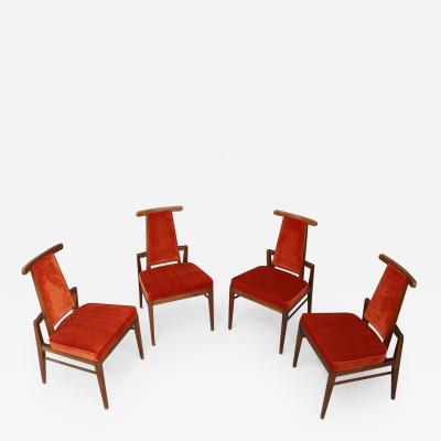 James Mont Set of Midcentury Asain Armchairs Attributed a James Mont 1950s