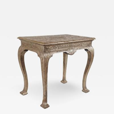 James Moore Sr Exceptionally Rare Silvered Gesso Table by James Moore circa 1715