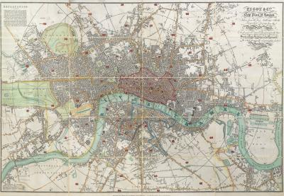 James Pigot Late Georgian map of London