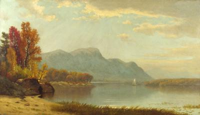 James R Brevoort A Quiet Day on the Lake 1872