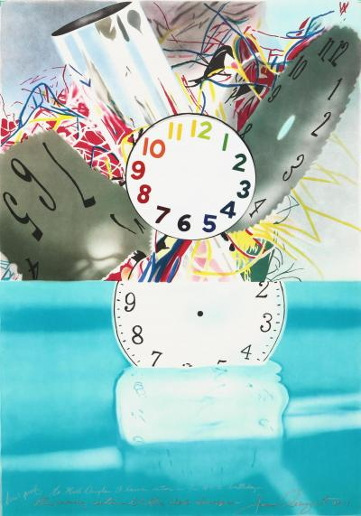James Rosenquist The Memory Continues but the Clock Disappears