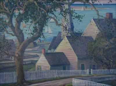 James Scott My Nantucket Oil Canvas