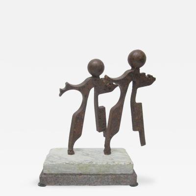 James Shamus Koch Dancing Couple Rotating Sculpture by J Shamus Koch
