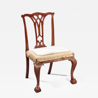 James Wilson Carved Chippendale Side Chair