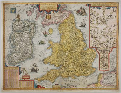 Jan Baptista Vrients Vrientss scarce map of England Wales Ireland