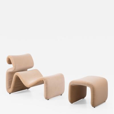 Jan Ekselius Jan Ekselius Etcetera armchair stool J O Carlsson Sweden 1970