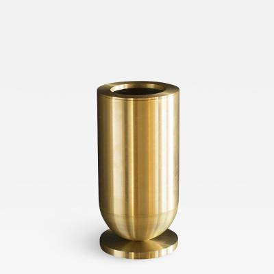 Jan Garncarek Cofete Brass Vase Jan Garncarek