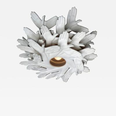 Jan Paul Meulendijks Bird in hand shadowcasting chandelier