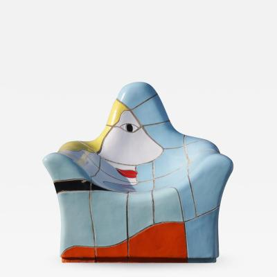 Jan Snoeck Jan Snoeck Ceramics Chair or Sculpture from the MS Volendam Netherlands 1990