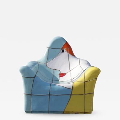 Jan Snoeck Jan Snoeck Ceramics Chair or Sculpture from the MS Volendam Netherlands 1990