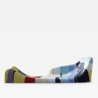 Jan Snoeck Jan Snoeck Ceramics Daybed or Sculpture from the Ms Volendam Netherlands 1991