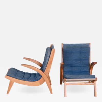 Jan Vanek 20th century Czech Pair of armchairs