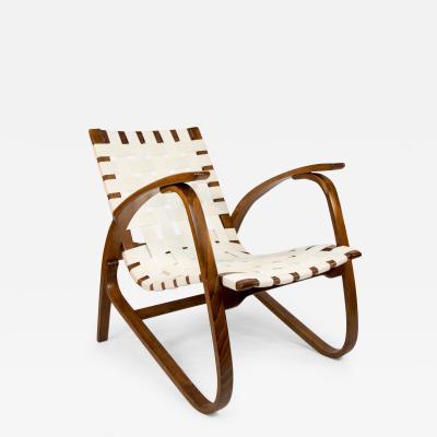 Jan Vanek Iconic Art Deco Longue Armchair by Jan Vanek 1930s Restored