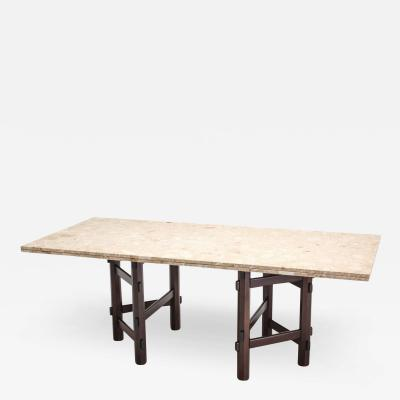 Jan Vlug Modern Terazzo Marble Dining Table by Jan Vlug Belgium 1970s
