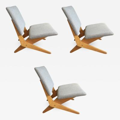 Jan van Grunsven Set of Three Stunning FB18 Scissor Chairs by Jan Van Grunsven for UMS Pastoe
