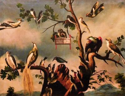 Jan van Kessel the Elder Flemish 1626 1679 Kessel Oil on Canvas A Choir of Birds