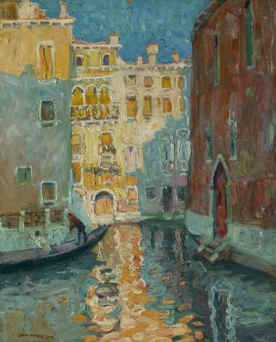 Jane Peterson Sunlit Canal Venice